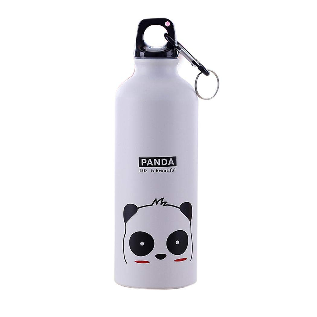 LIOPIO Botella de agua termo de la taza del termo de la aleaci/ón de aluminio del patr/ón animal de la historieta 500mL Teteras