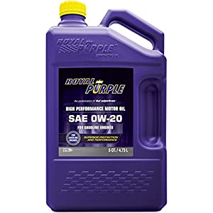 Royal Purple 51020 API-Licensed SAE 0W-20 High Performance Synthetic Motor Oil - 5 qt.