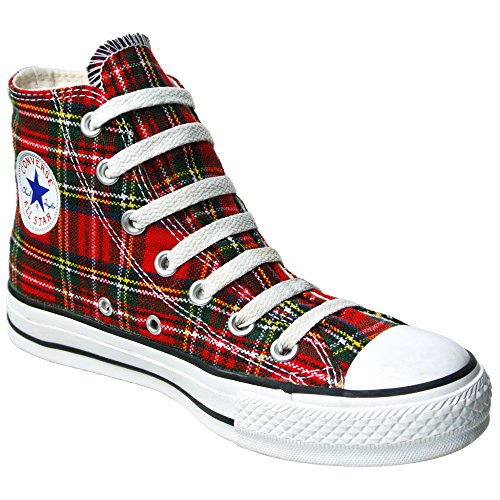 UK Tartan Grösse Schottenmuster Red 44 Converse Ska 5 10 5 Chucks All 1Q455 HI Star 4qC74w1Y