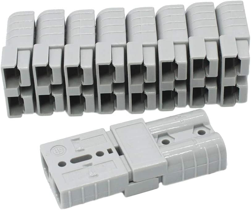 50Amp Power Connector Plug 50A Quick Connect Disconnect 600 V 10 Pairs Red, 10//12awg 20pcs for Anderson 50Amp