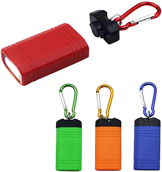 Details about  /Police Security Drop-Proof Hiking//Climbing LED Work Light Flashlight w//Carabiner