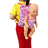 XADP Baby Doll Carrier Backpack Doll Accessories -Storage for Doll Clothes and Accessories- Fits 15 to 18 Inch Dolls