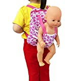 XADP Baby Doll Carrier Backpack Doll Accessories, Storage for Doll Clothes and Accessories for 15 Inch to 18 Inch Dolls