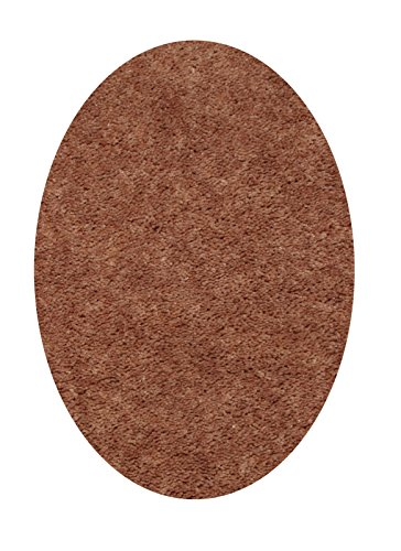 Brown Oval Rug - Bright House Solid Color Area Rug, Oval, 5' W x 8' L, Brown