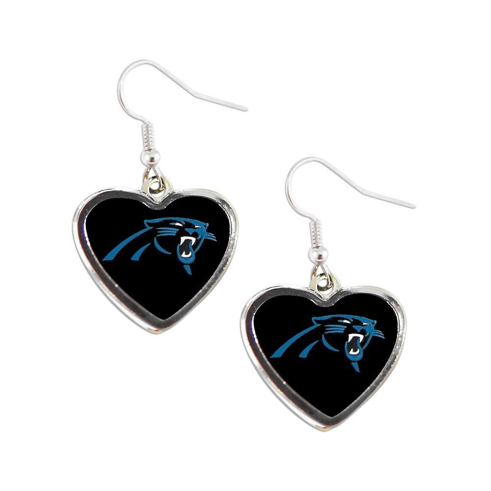 aminco NFL Womens NFL Sports Team Non Swirl Heart Shape Dangle Earring Set