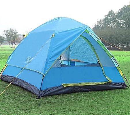 ZHUCHANGJIANG ZC&J Camping automático al aire libre 3-4 personas utilizan tiendas de campaña, barras de fibra de vidrio seguro y duradero, camping casetas ...