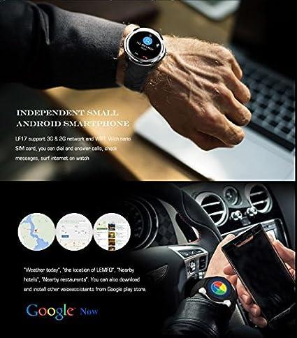 LEMFO LF17 - Android 5.1 3G Smartwatch teléfono 1.3GHz de Doble ...