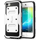 iPod Touch 6th Generation Case, [Heave Duty] i-Blason Apple iTouch 5/6 Case Armorbox [Dual Layer] Hybrid Fullbody Case w Front Cover and Builtin Screen Protector/Impact Resistant Bumper (White)