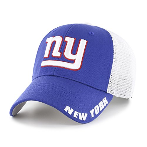 NFL New York Giants Adult Hursh Ots Center Stretch Fit Hat, Large/X-Large, Royal