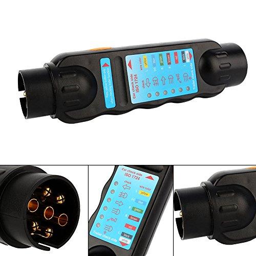 Yosoo 7 Pin 12V Car Truck Trailer Plug Socket Tester Wiring Circuit Light Test Tool by Yosoo (Image #4)