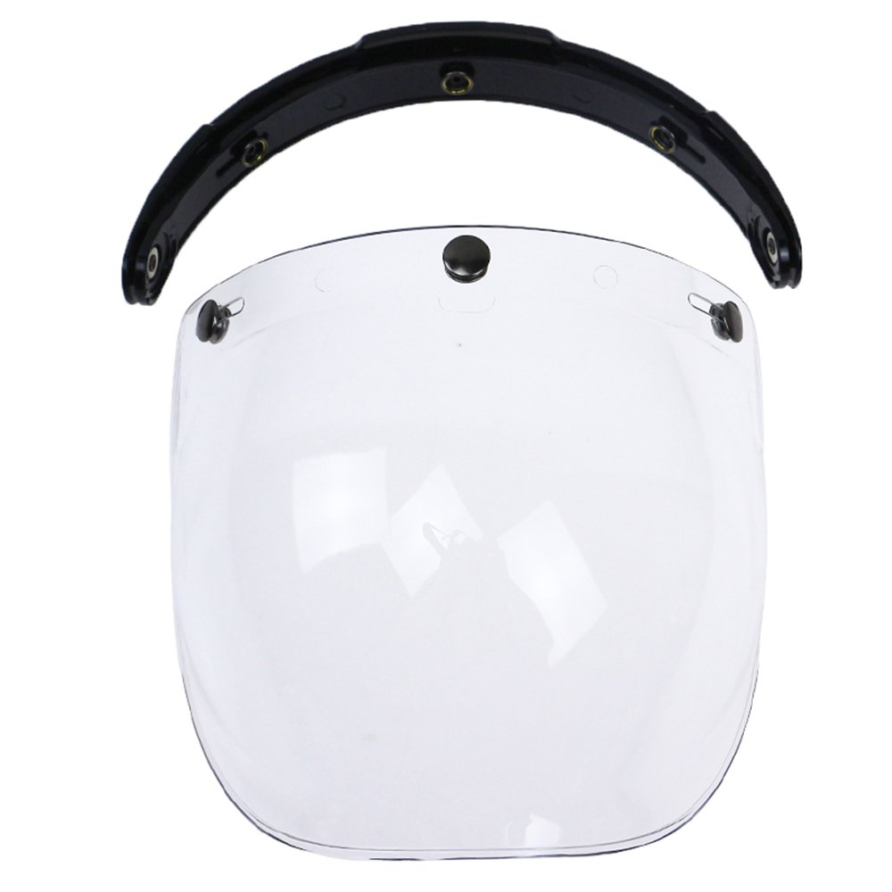KKmoon Visera Burbuja Casco Lente 3 Botones Homologado para Biltwell Gringo&Bonanza Motocicleta Casco