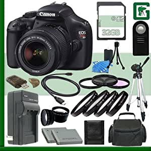 Canon EOS Rebel T3 Digital SLR Camera Kit with 18-55mm IS II Lens + 32GB Green's Camera Package 2