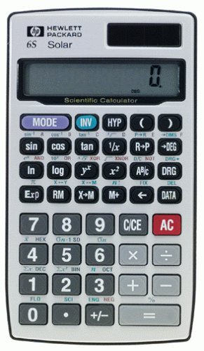 Hewlett Packard HP6S SLR Solar Scientific Calculator