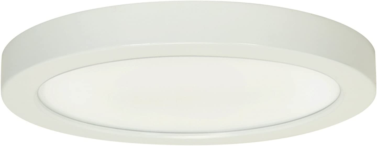SATCO Products 1.00 inches Inc Satco S9686 Contemporary Modern LED Flush Mount in White Finish