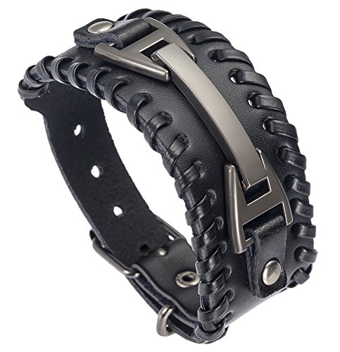 Hamoery Leather Bracelet Braided Wristband