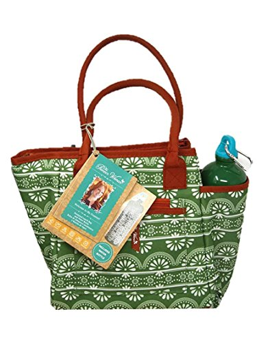 Pioneer Woman Insulated Lunch Bag with Water Bottle, Nan pattern (Pioneer Bag)