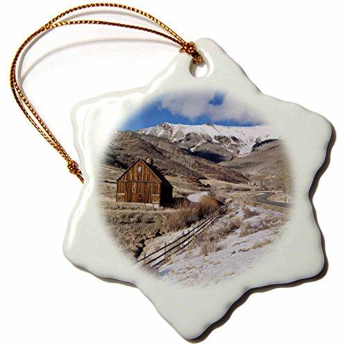 3dRose USA, Colorado, Telluride, Wood Barns, Winter Snowflake Ornament, 3'' by 3dRose (Image #1)