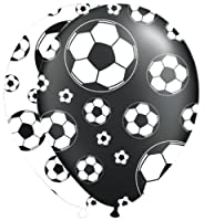 8 bedruckte Luftballons * FUSSBALL-STADION * für Party und Geburtstag //...