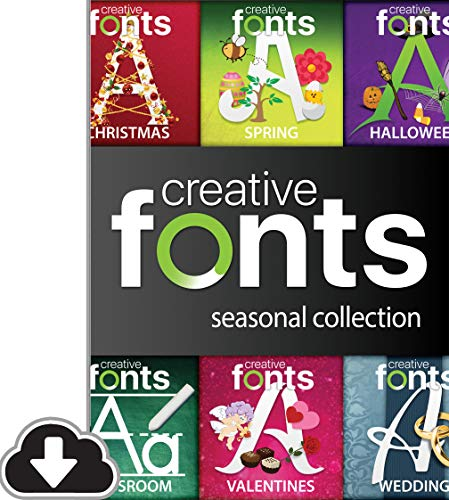 Font Download - Creative Fonts Seasonal Collection [PC Download]
