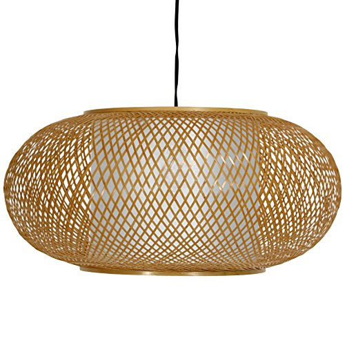 Oriental Furniture Honey Kata Japanese Ceiling Lantern (Japanese Pendant Lights)