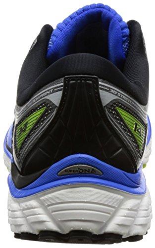 Brooks Mens Glycerine 14 Elektrische Beekjes Blauw / Zwart / Limoenstempel