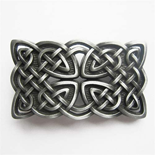 New Vintage Style Cross Knot Rectangle Belt Buckle for Men