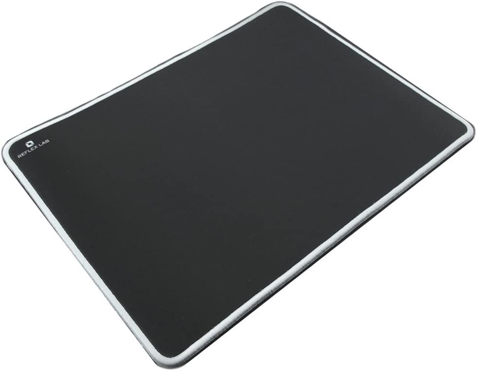 Reflex Lab Mouse Pad//Mat, Silky Smooth Black Ultra Thick 3mm 9x8 Mousepad Waterproof Stitched Edges