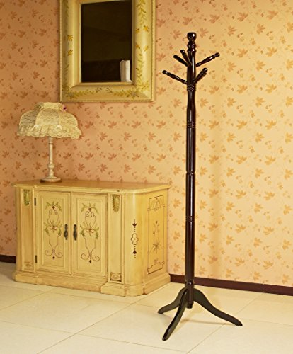 Frenchi Furniture Wooden Coat Rack in Cherry Finish