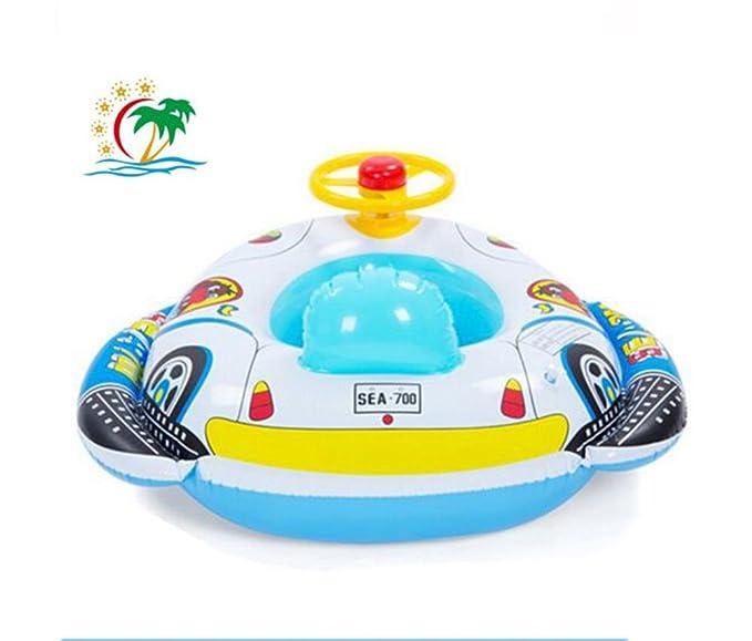 QHYK Inflable Bebé Niño Niño Infantil Natación Asiento Float Boat Anillo Raft silla Piscina Juguete (coche de altavoz)