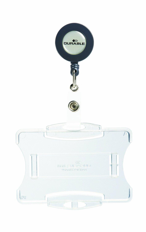 Durable 891801 Porte-carte de S/écurit/é 1 Carte 54 x 86 mm Bo/îtier Ouvert Noir Vendu sans Attache Bo/îte de 10