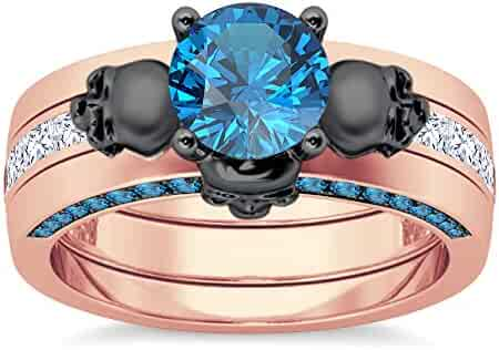 1.35 Ct Oval Sim Diamond 14K Rose Gold Fn Halo Emerald Cluster Engagement Ring