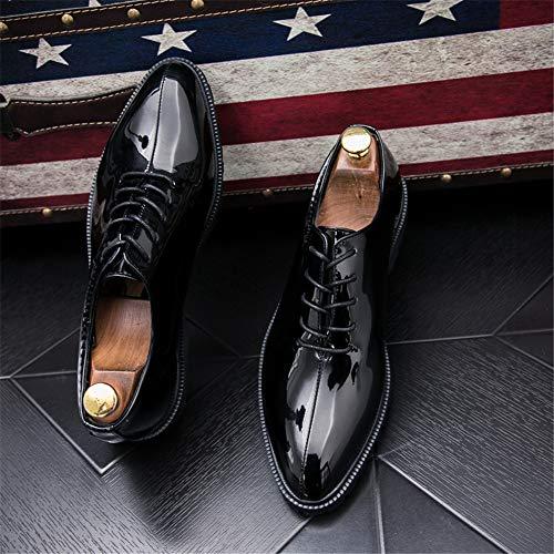 Basse da Xujw Oxford Oxford Scarpe 38 Color casual pelle Scarpe 2018 Dimensione con Nero lavoro moda casual in EU Nero shoes Stringate lacci uomo da rv4vIq