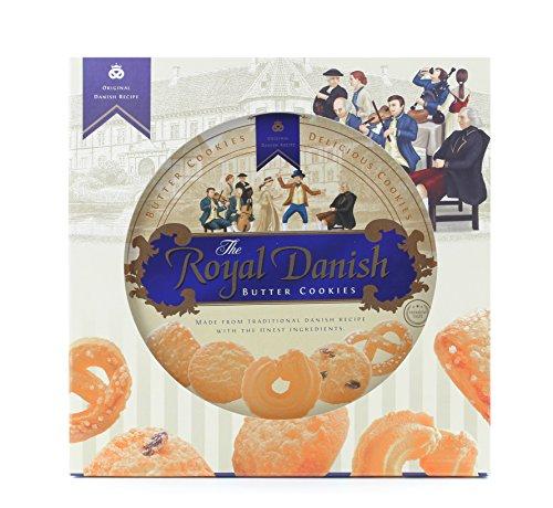Royal Danish Premium Butter Cookies - Festive tin (Original Gift Box (32 oz), 1) -