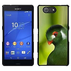 [Neutron-Star] Snap-on Series Teléfono Carcasa Funda Case Caso para Sony Xperia Z4v / Sony Xperia Z4 / E6508 [Parrot Green Trees Tropical Bird Nature]