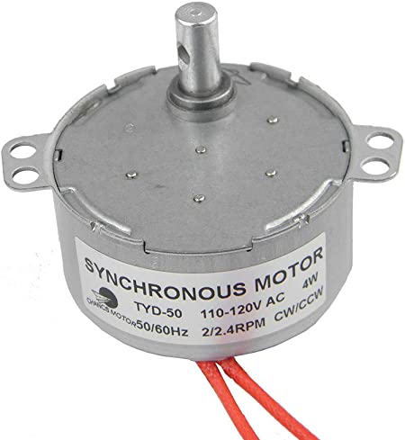 110V AC 8//10RPM CW//CCW TYD-50 3W Synchronous Motor Low Noise Robust Torque Motor