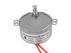CHANCS TYD-50 Synchronous Motor 110V AC 2-2.4RPM CW/CCW 4W Electric Motor For Rotisserie Grill