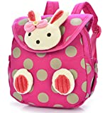 Lowpricenice Baby Toddler Child Kid 3D Cartoon Backpack Schoolbag Shoulder Bags (Hot Pink)