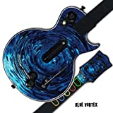 #9: MightySkins Protective Skin Decal Cover Sticker for GUITAR HERO 3 III PS3 Xbox 360 Les Paul - Blue Vortex