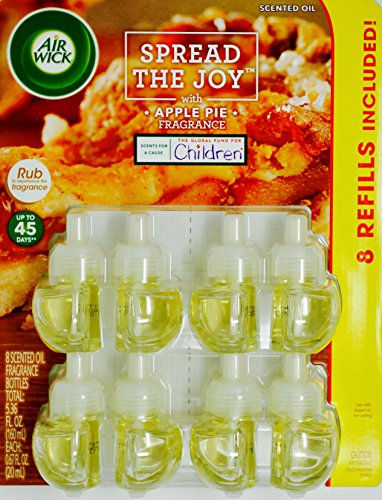 (Air Wick Spread the Joy Apple Pie, 1 Warmer & 7 Scented Oils)