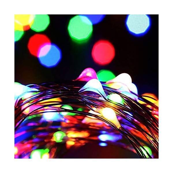 Qedertek Luci Natale Esterno Solare, Luci Natalizie 24M 240 LED, Lampadina Natale con Luci Colorate, Stringa Luci Solare Impermeabile, Luci Addobbi Natalizi per Albero di Natale (colore) 6 spesavip