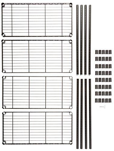 AmazonBasics 4-Shelf Shelving Unit - Black by AmazonBasics (Image #8)