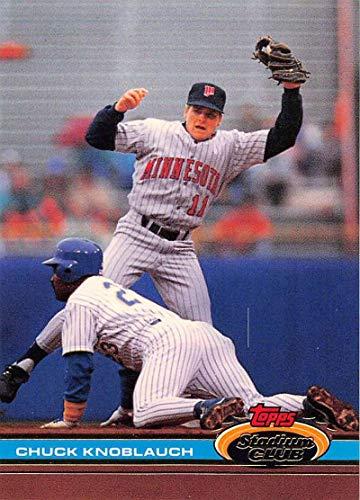 1991 Stadium Club Baseball #548 Chuck Knoblauch Minnesota Twins