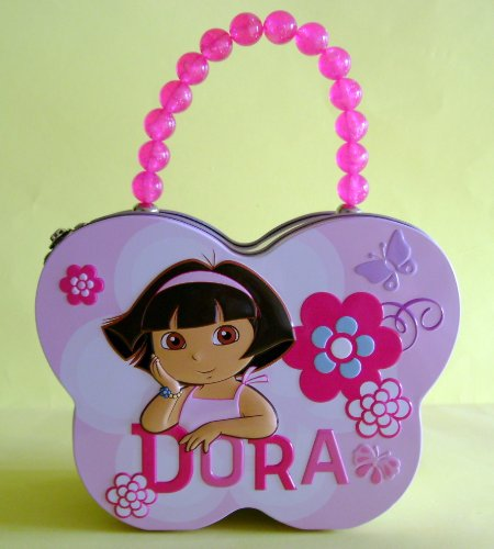 Collectable Dora Tin Butterfly Shape Carry All