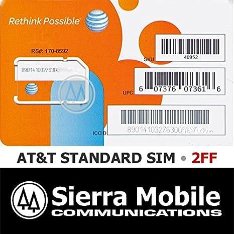 AT&T Wireless 3G / 4G / LTE Sim Card - Postpaid /Go Phone Prepaid - SKU 40952 ATT SIM