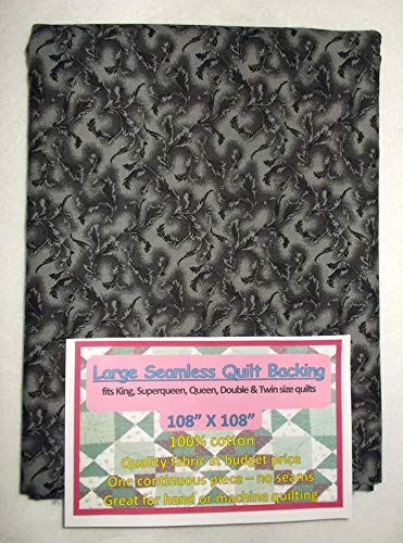 Quilt Backing, Large, Seamless, Black/Gray, C49639-A05