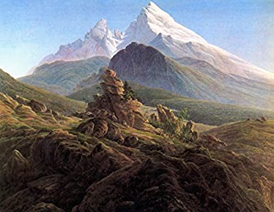 The Watzmann by Caspar David Friedrich. 100% Hand Painted. Oil On Canvas. Reproduction. (Unframed and Unstretched).