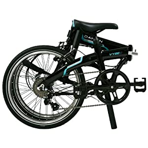 Dahon Vybe D7 Folding Bike Obsidian with Fenders