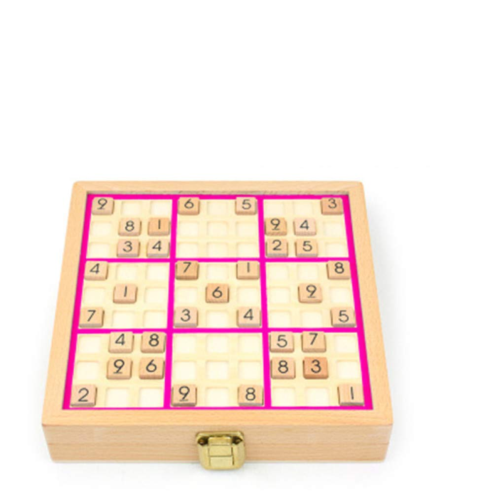 juler Three-in-one Sudoku Game Chess Children's Puzzle 4/6/9 Nine Squares Adult Intelligence Parent-Child Desktop Toys,Pink,One Size by juler