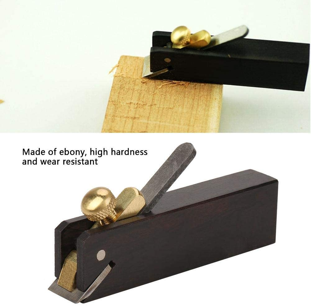 Ebony Mini Pulling Linear Planer Carpenter DIY Wood Cutting Tool for Woodworking Craft Woodworking Plane