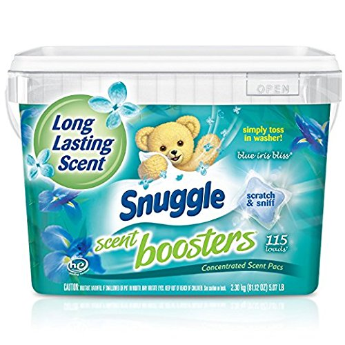 - Snuggle Laundry Scent Boosters Concentrated Scent Pacs, Blue Iris Bliss, Tub, 115 Count